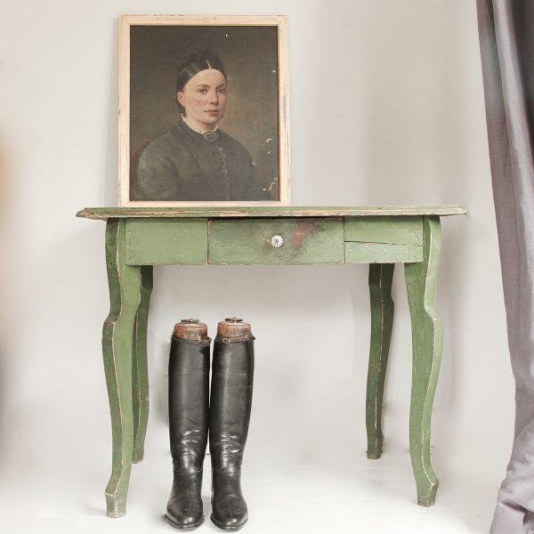 Large vintage painted side table or desk