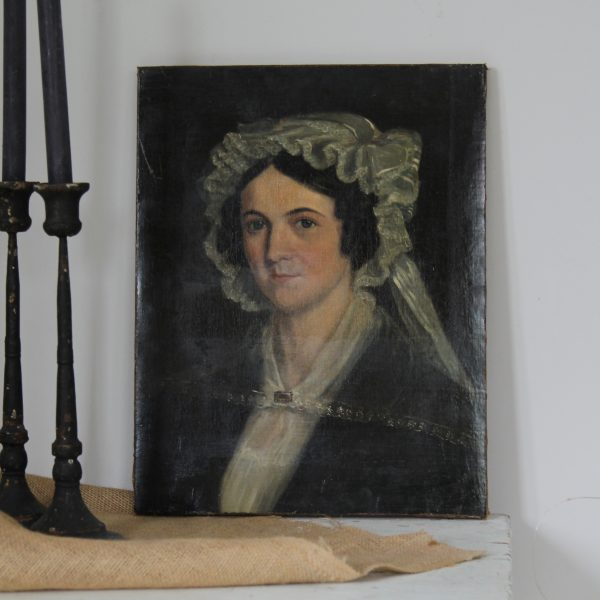 Beautiful pair of 19th century English oil portraits on canvas