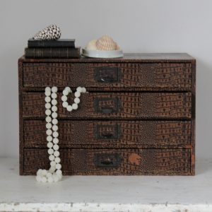 Lovely shagreen effect bank of drawers