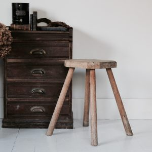 Early 20th century rustic stool