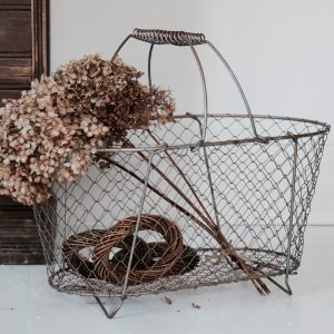 1950s French collapsable wire basket