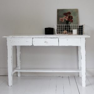 French antique desk or kitchen table