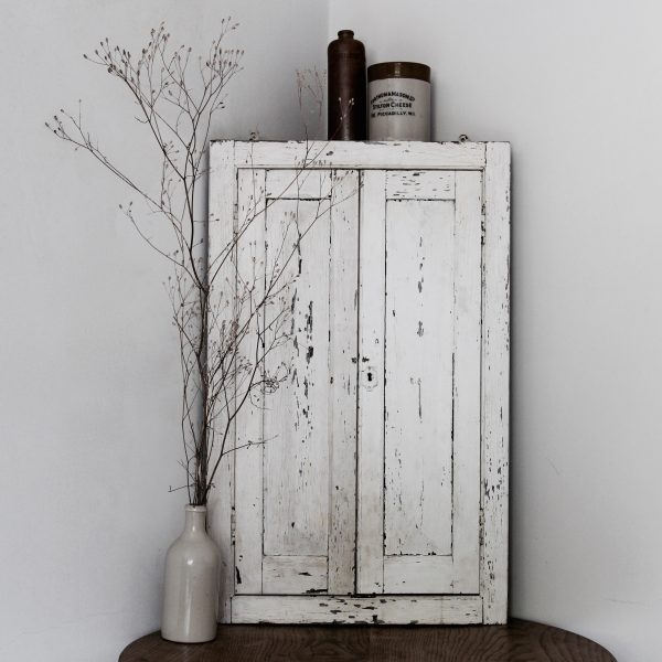 Late 19th century French corner cupboard