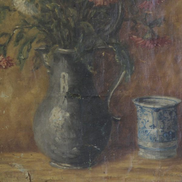 Charming still life, oil on canvas