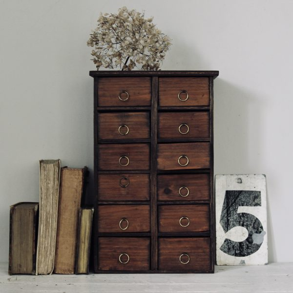 Stunning little bank of drawers