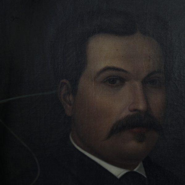 French 19th century oil portrait of a gentleman