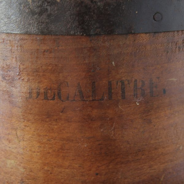 French antique wooden grain buckets