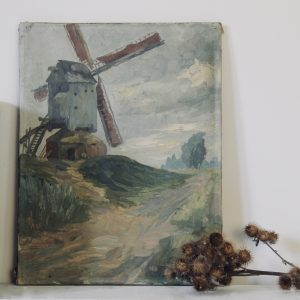 Atmospheric French landscape, oil on canvas