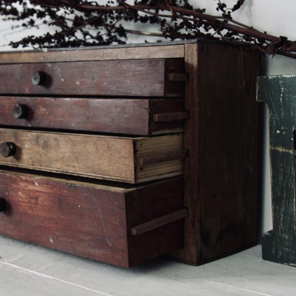 Beautiful little timber bank of drawers