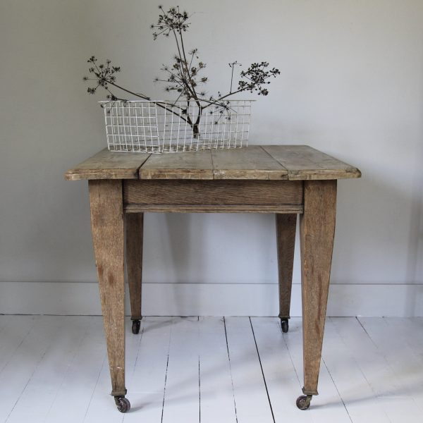 antique 1920s oak table