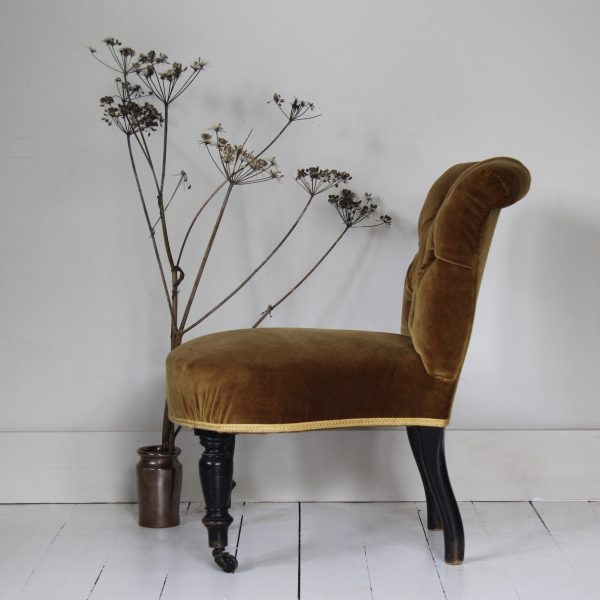 Small 19th century French bedroom chair
