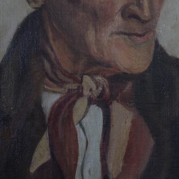 Mid-century portrait of a country gentleman, oil on board