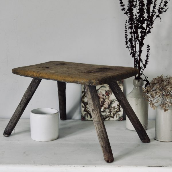 Small 19th century rustic stool