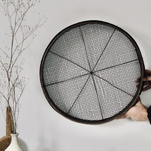 Large late 19th century French grain sieve