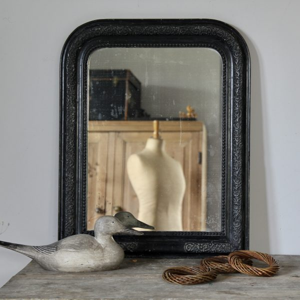 Stunning ebonised Louis Philippe mirror