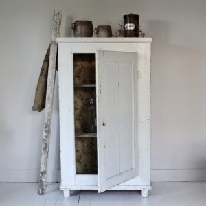 Late 19th century French cupboard, original paint