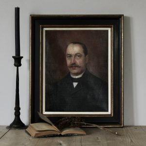 French portrait of a gentleman, oil on canvas, 1898