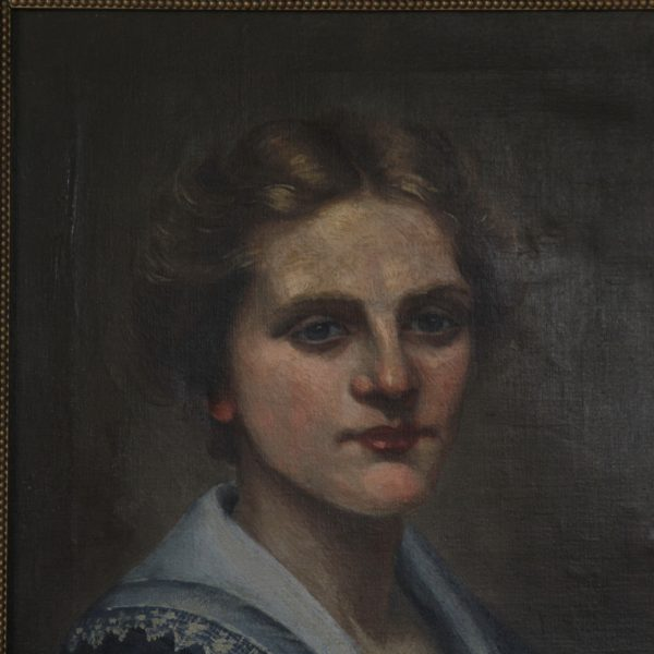 Portrait of a lady, oil on canvas, circa 1920