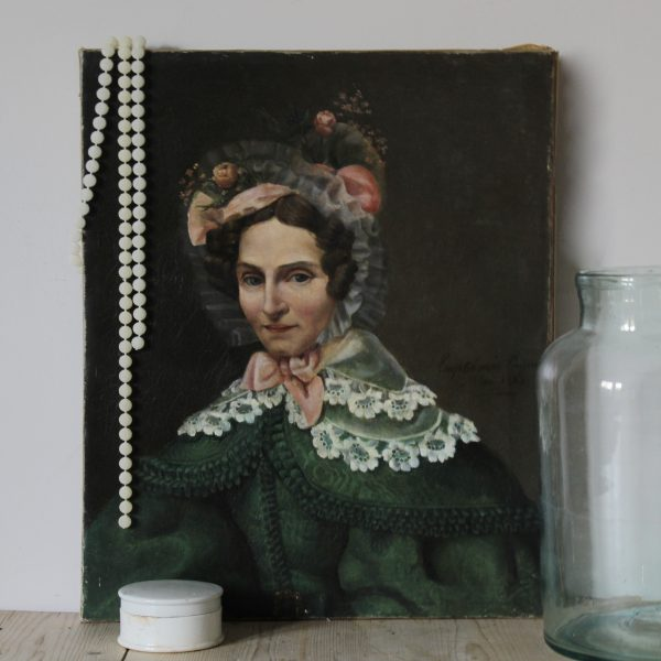Early 19th century French portrait of a lady, oil on canvas