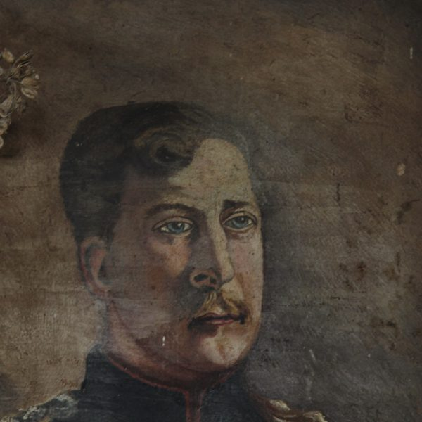 19th century French oil portrait of a military gentleman