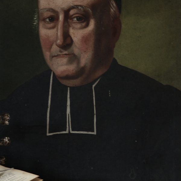 Portrait of a French priest, oil on canvas, dated 1828