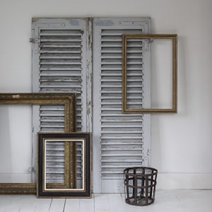 Attractive pair of 19th century french wooden shutters