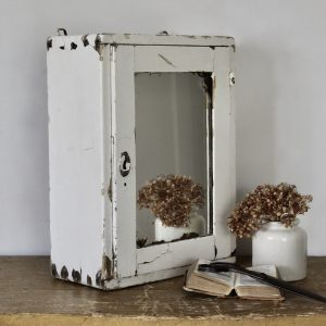 Vintage mirrored cabinet, original paint