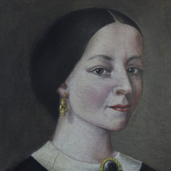 Exquisite mid 19th century Spanish portrait of a lady, oil on canvas