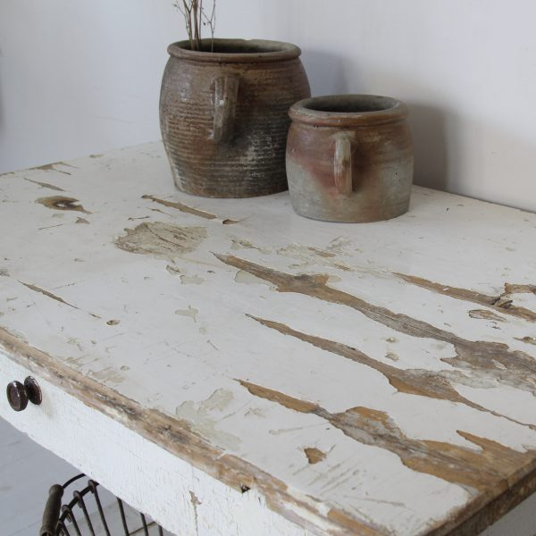 Turn of the century Hungarian kitchen prep table