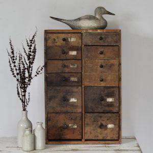 Mid-century workshop drawers