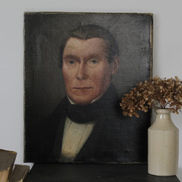 Mid 19th century portrait of a gentleman, oil on canvas