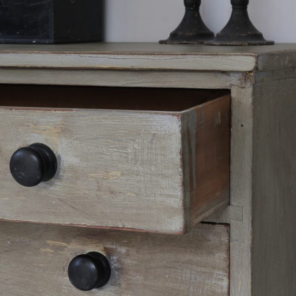 Antique painted pine chest of drawers