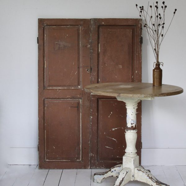 Antique pair of French cupboard doors, circa 1900