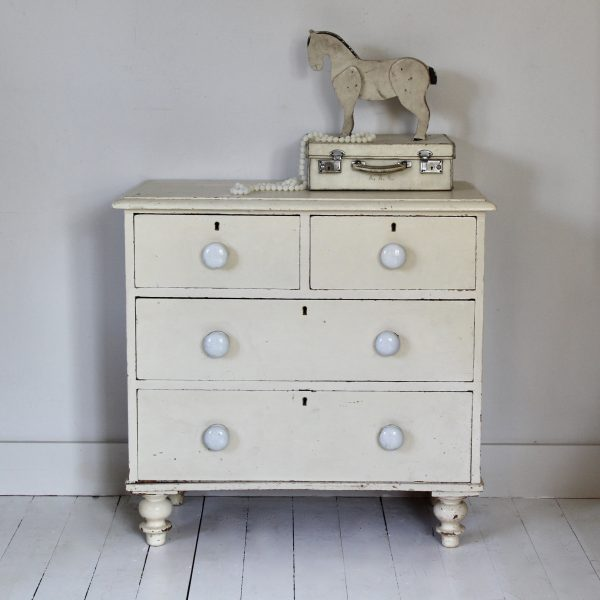 Victorian painted chest of drawers