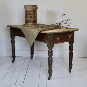 Victorian scrub top farmhouse table
