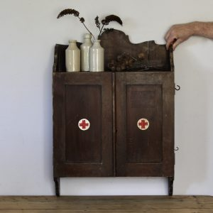 Large vintage first aid cabinet
