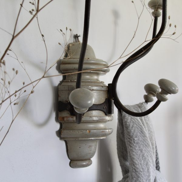 Turn of the century French hat and coat hooks