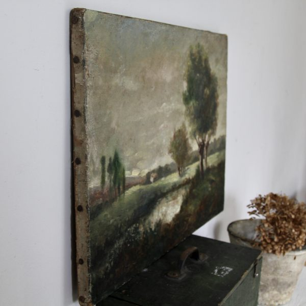 Atmospheric little 19th century French landscape
