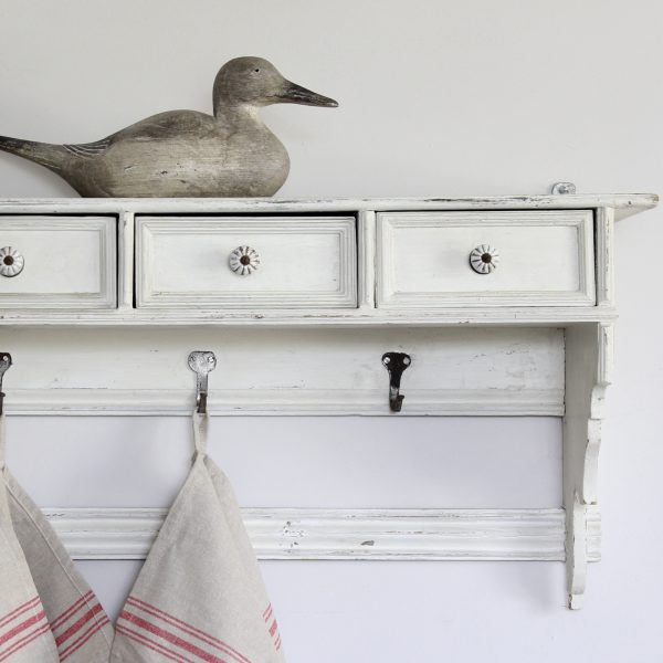 Large 19th century French wall shelf with drawers