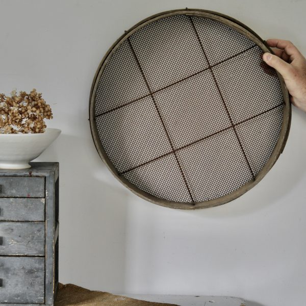 Late 19th century French grain sieve