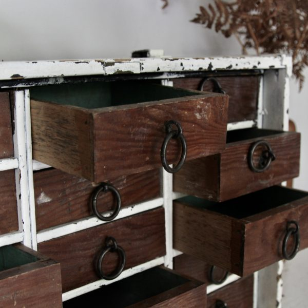 Beautiful set of vintage table top drawers