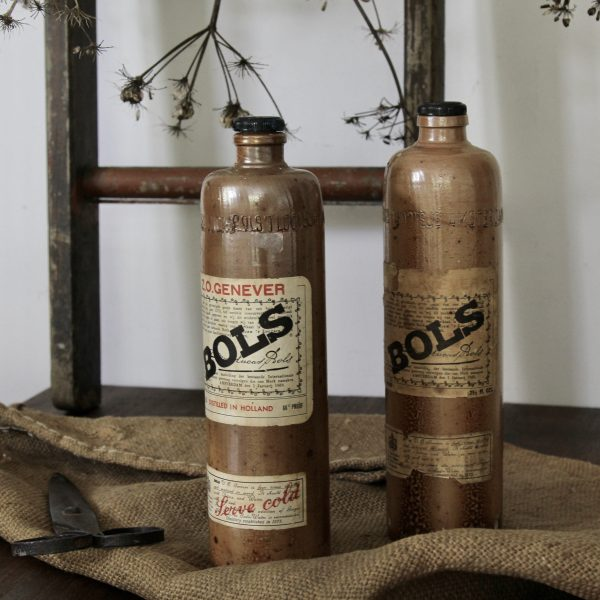 Decorative vintage clay bottles