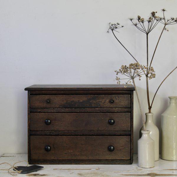 1920s oak bank of drawers