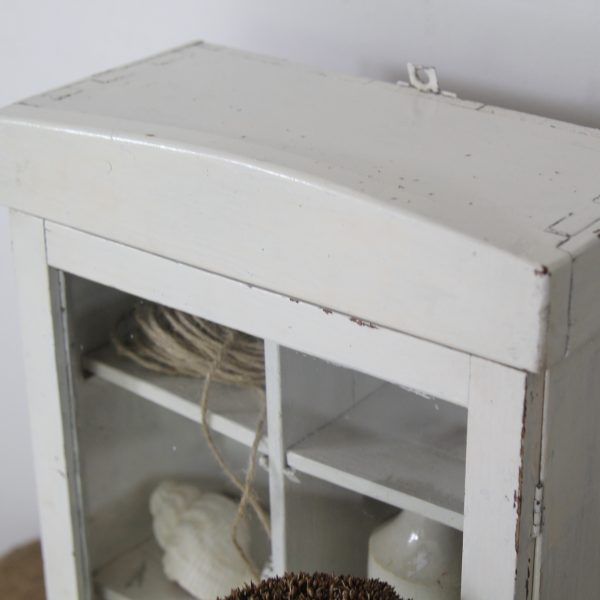 Small vintage Hungarian display cabinet