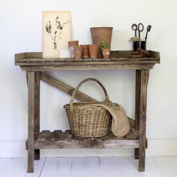 Vintage potting or kitchen table