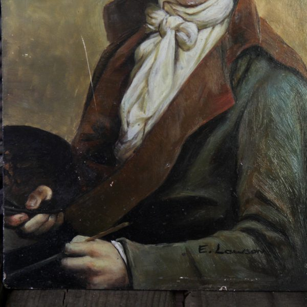 Small 19th century portrait of a gentleman, oil on board