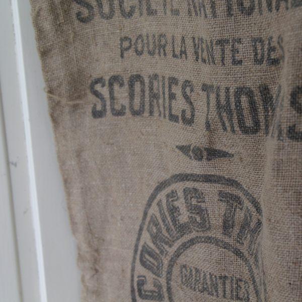 Vintage French hessian grain sack