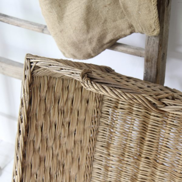 Very large vintage French wicker basket