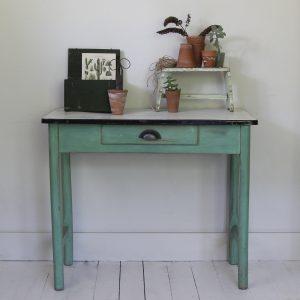 1950s enamel top table