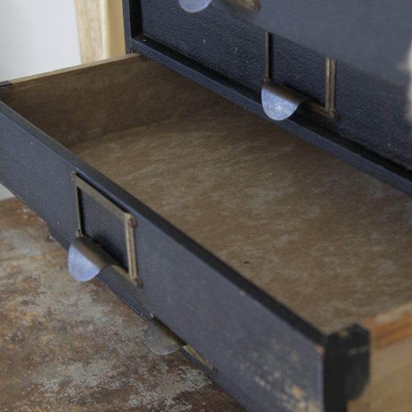 Mid-century table top drawers
